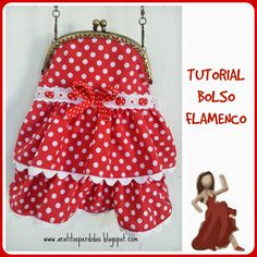 A ratitos perdidos: TUTORIAL BOLSO FLAMENCO PARA IR A LA FERIA Burlap Chair, Frame Purse, Vintage Bags, Baby Sewing, Bag Making, Antique Jewelry, Projects To Try, Kids, Crafts