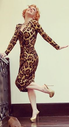 Kathy Griffin, High Neck Dress, Dresses With Sleeves, Long Sleeve, Fashion, Turtleneck Dress, Moda, Sleeve Dresses, Long Dress Patterns