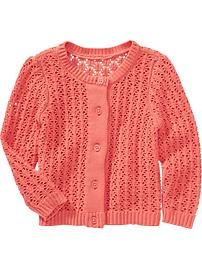 Pointelle-Knit Cardigans for Baby - STELLA