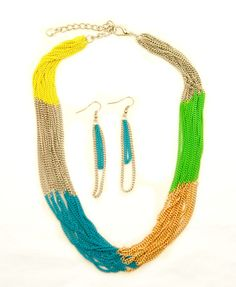 $14.60  www.mycentsofstyle.com  10% off using code '0515' at checkout.  FREE SHIPPING to anywhere in the U.S.   multi colored chain necklace, summer 2012 fashion accessories, cheap fun jewelry, cheap trendy jewelry, pay less shoes — Cents Of Style