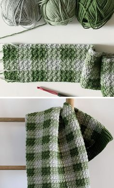 -Free Pattern - Crochet Green Gingham Blanket I've des.- Free Pattern – Crochet Green Gingham Blanket I've designed and made another gingham blanket. I guess I can't help myself. This is number And honestly,… <br Baby Pattern, Crochet Pattern Free, Afghan Crochet Patterns, Crochet Afghans, Knitting Patterns, Doll Patterns, Blanket Crochet, Chevron Blanket, Plaid Crochet