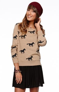 Blakely Pullover Fleece by Volcom | Horse Print