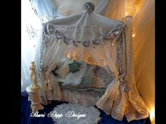 One of a Kind Gorgeous Handmade Canopy Bed for by ShariDeppDesigns, $375.00