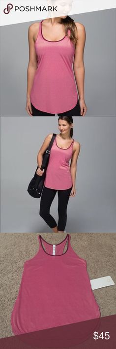 🔆Lululemon What The Sport Singlet Magenta Gold New with tags. ✨Save $$$ when bundling with other items. 📍NO TRADE lululemon athletica Tops Tank Tops