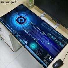 Mairuige Super Large Size keyboard Mouse Pad Natural Rubber Material Waterproof Desk Gaming Mousepad Desk Mats for dota LOL CSGO Gaming Computer Setup, Gaming Room Setup, Desk Setup, Computer Laptop, New Technology Gadgets, High Tech Gadgets, Futuristic Technology, Technology Design, Technology Apple