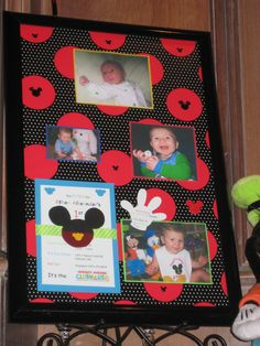 Mickey Mouse themed birthday frame