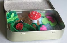 Ladybug felt plush altoid tin play set with by wishwithme on Etsy, $25.00