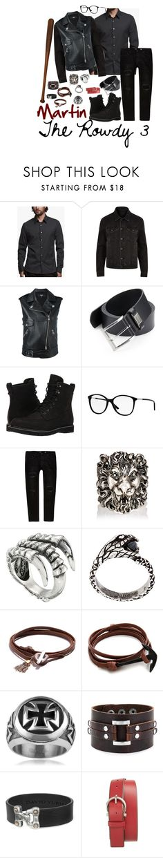 """""""Martin - the rowdy 3"""" by littleapplecat ❤ liked on Polyvore featuring James Perse, River Island, Versus, HUGO, Timberland, Burberry, Gucci, King Baby Studio, Yves Saint Laurent and JAM MMXIV"""