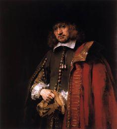 REMBRANDT Harmenszoon van Rijn - Jan Six, c. 1654