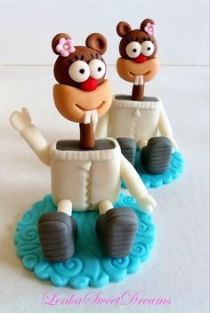 Spongebob and co. turned on to cupcake figurines !