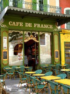 Old cafe in L'Isle-sur-la-Sorgue - ASPEN CREEK TRAVEL - karen@aspencreektravel.com