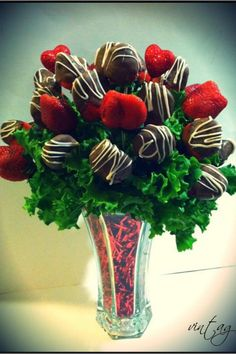 Edible arrangements can be done all sorts of styles and for every occasion. Starting @ $59.99+tax   vintagechocolateboutique.com