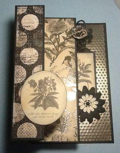 Kaisercraft 'Art of life' papers, three fold card via Margaret Gobbitt ~ Cards 1.