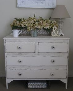 vintage dresser for changing table
