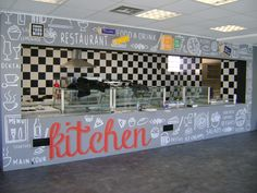 διακόσμηση επαγγελματικών χώρων   εκτύπωση σε ματ αυτοκόλλητο (ταπετσαρία τοίχου) & τοποθέτηση σε επαγγελματικό χώρο εστίασης.... Restaurant Drinks, Interior, Indoor, Interiors