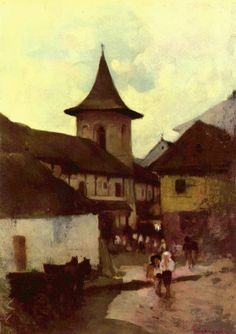 Catholic Church in Cimpulung - Nicolae Grigorescu Potpourri, Art History Major, Post Impressionism, Art Database, Sculpture, Kirchen, Modernism, Lovers Art, American History