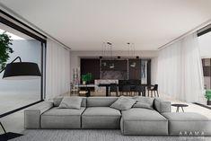 interior_living room on Behance Living Room Sofa, Living Room Interior, Home Living Room, Living Spaces, Bedroom Colors, Diy Bedroom Decor, Home Decor, Modular Sofa, Apartment Design