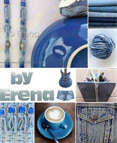 #denim macrame #collection by #erenacreation #tahiti For more styles & info please like my FB fanpage : https://www.facebook.com/ErenaTahiti