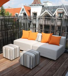 Outdoor sofa at roofterrace