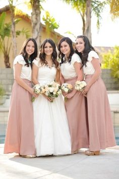 sandeeroyalty.com navy and white striped skirt for bridesmaids ...