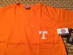 7a3a74ce9c0 Tenessee Vols Orange Scrub Top UNISEX Large by GelScrubs #GelScrubs #Scrubs  #Tennessee #