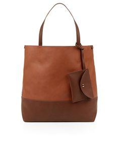 Contrast Colour Tote Bag | Brown | Accessorize