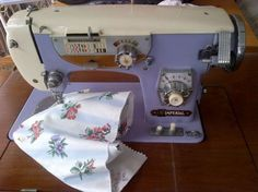 Mauve Imperial Sewing Machine @ sew-whats-new.com