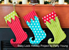 Free Tutorials - Baby Lock's Snappy Holidays Project Round Up (several tutorials)