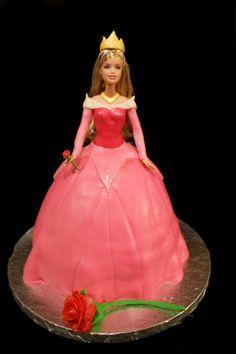 Princess Aurora doll cake