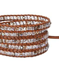 Chan Luu 32' Swarovski Crystal Bracelet #accessories  #jewelry  #bracelets  https://www.heeyy.com/suggests/chan-luu-32-swarovski-crystal-bracelet-golden-shadow-mix/