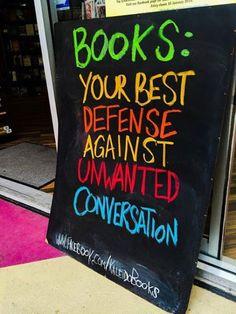 Your best defense against unwanted conversation