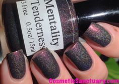 Mentality Nail Polish The Black Light Set Swatches and Review TENDERNESS