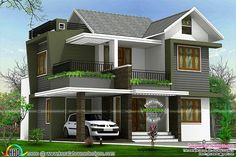 4BHK floor plan and elevation in 5 cent - Kerala home design and floor plans