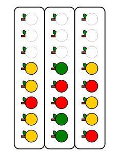 Barevná jablka - dokončování řady dle pravidla