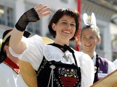 Doris Leuthard in der Schwyzer Tracht Dory, Switzerland, Culture, Costumes, People, Beauty, Homeland, Ethnic, German