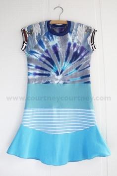 blueeeeee #courtneycourtney #eco #upcycled #recycled #repurposed #tshirt #vintage #dress #girls #unique #clothing #ooak #designer #upscale  #fashion #tiedye #blues