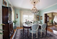 Traditional Dining Room And Interior Design By Von Hemert Interiors.  #MaryLarez