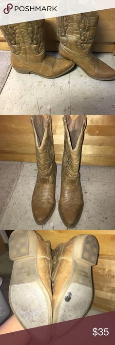 Cowgirl boots Only worn about twice! Perfect condition!! Coconuts Shoes Heeled Boots