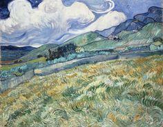 """jimlovesart: """"Vincent van Gogh - Landscape from Saint-Rémy, 1889. """""""