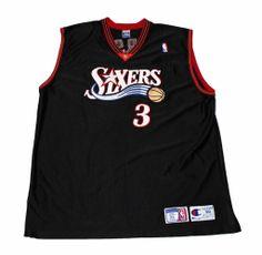 NBA Champion Philadelphia 76ers #3 Allen Iverson Basketball Jersey Mens Size 56 (XXXL) $65.00