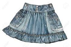 Resultado de imagen para falda de mezclilla