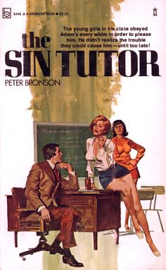 'The Sin Tutor', Vintage Pulp Book Covers. Serpieri, Pulp Fiction Book, Fabian Perez, Nerd, Robert Mcginnis, Vintage Book Covers, Pulp Magazine, Up Book, Thing 1