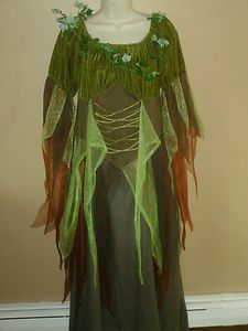Womens MOTHER NATURE Halloween Costume Dress M/L *NICE* | eBay