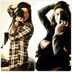 Baby before and after photography idea.  Yay or nay?