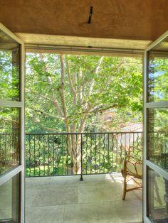 shaded bedroom balcony