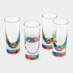 Rainbow Tumblers from MoMA Design Store. Saved to Kitchen. Shop more products from MoMA Design Store on Wanelo. Rainbow Shots, Rainbow Kitchen, Moma Store, Deco Design, Glass Design, Nail Design, Iridescent, Home Accessories, At Least