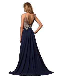 71103407187 vimans Long Sleeveless Cocktail Party Dresses Sexy Backless Evening Gowns  Size 2 Blue    Visit