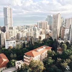 The beautiful contrast of #Beirut By @a.lyos #WeAreLebanon #Lebanon