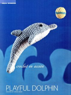 Crochet Amigurumi Playful Dolphin Free Pattern - Amigurumi Crochet Sea Creature Animal Toy Free Patterns