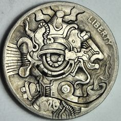 """Robot Hobo"" Steampunk Hobo Nickel By John Schipp Wyrd Sisters, Sculpture Art, Sculptures, Steampunk Theme, Italy Pictures, Engraving Art, Hobo Nickel, Coin Art, Funky Art"